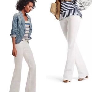 CABI WHITE WIDE LEG JEANS